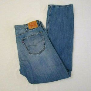 Levi's Jeans 505 Blue Denim Men's 38 x 34 Zipper